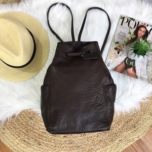 Coach Vintage Drawstring Brown Leather Backpack